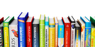 Color hardcover books Stock Photos
