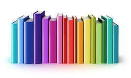 Color hardcover books Royalty Free Stock Photography