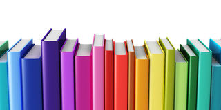 Color hardcover books Stock Photos