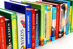 Color hardcover books Royalty Free Stock Photos