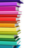 Color hardcover books. Creative abstract science, knowledge, education, back to school, business and corporate office life concept: 3D render illustration of Royalty Free Stock Photography