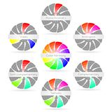 Color harmony combinations Stock Photo