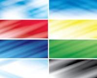 Color headers with blurred lines - vector Royalty Free Stock Images