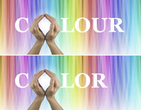 Color Healing Therapy Website Banners x 2 Royalty Free Stock Photography