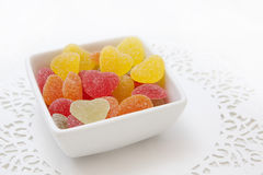 Color heart candies Stock Photo