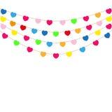 Color heart flags banner Stock Photos
