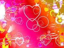 Color Heart Indicates Valentines Day And Affection Royalty Free Stock Photos