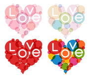 Color heart set Stock Photography