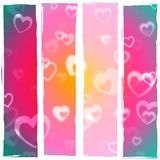Color Heart Shows Valentines Day And Affection Stock Photography