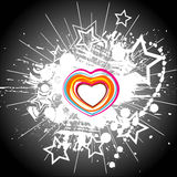 Color hearts. On black background Royalty Free Stock Photography