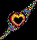 Color hearts Stock Photo