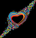 Color hearts Stock Image
