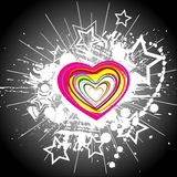 Color hearts. Confetti on black background Royalty Free Stock Photos