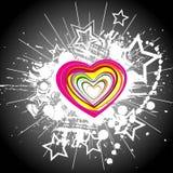 Color hearts Royalty Free Stock Photos