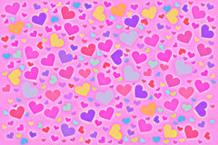 Color hearts royalty free stock images