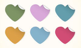 Color hearts Stock Images