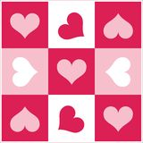 Color hearts. Computer generated  illustration with a lot of hearts Royalty Free Stock Photography