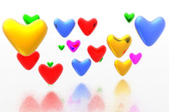 Color hearts background Stock Photos