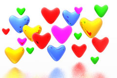 Color hearts background Royalty Free Stock Images