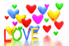 Color hearts background Royalty Free Stock Image
