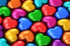Color hearts Stock Photography