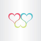 Color hearts love symbol. Design stock illustration
