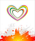 Color hearts on white background Stock Image