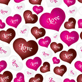 Color helium balloons heart shape for love and valentine seamless pattern eps10 Stock Image