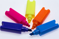 Color Highlight Pens Royalty Free Stock Photo