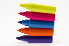 Color Highlight Pens Stock Photo
