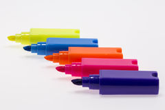 Color Highlight Pens Stock Image