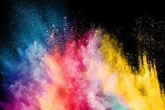 Color Holi Festival. Colorful explosion for Happy Holi powder. Color powder explosion background stock images