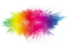 Color Holi Festival. Colorful explosion for Happy Holi powder. Color powder explosion background stock photo
