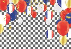 Color holiday balloons in traditional colors red, white, blue. royalty free illustration
