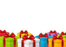 Color holiday gift boxes for Your design Royalty Free Stock Image