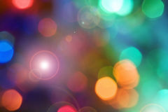 Color holiday lights background. Color lights out of focus Stock Image