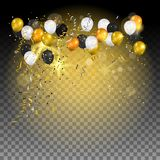 Balloons on black background Royalty Free Stock Image