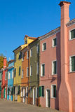 Color hoses (Island Burano, Venice, Italy) Royalty Free Stock Images