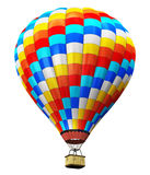Color hot air balloon isolated on white background Stock Photography