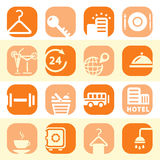 Color hotel business icons Royalty Free Stock Photo