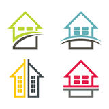 Color house illustration set Royalty Free Stock Photo
