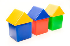 Color house series. An isolated small house series on white background Stock Photo