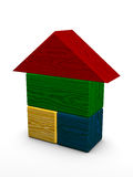 Color house toy. On white background Royalty Free Stock Images
