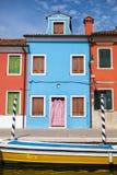 Color houses on Burano island near Venice Royalty Free Stock Photography