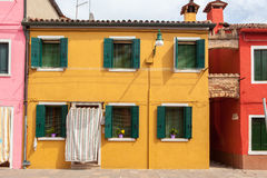 Color houses on Burano island near Venice Stock Photo