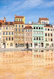 Color houses of Warsaw marketplace square royalty free stock images