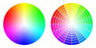 Color RGB wheels Stock Photography