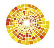 Color hypnotic spiral tiles. Swirl simple poster. stock photos