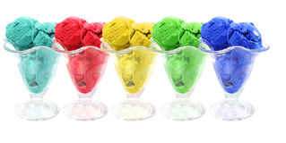 Color ice cream cones Royalty Free Stock Photo