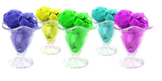 Color ice cream cones Stock Photography